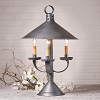 Darby House Shaded Lamp in Antique Tin