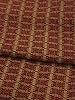 PREACHERS KNOT VALANCE CRANBERRY/TAN