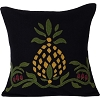 Home Sweet Home Pineapple Black Pillow