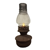 RUSTED MOVING FLAME PRAIRIE HURRICANE LANTERN WITH TIMER