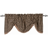 Heritage House Lace Gathered Valance Black - Nutmeg