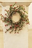 Frosty Buxus & Berry Candle Ring | 15
