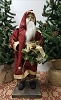 Small Santa Holding Wreath