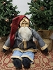 Sitting Santa with Blue Coat