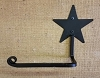 Wrought Iron Solid Star Toilet Paper Holder