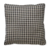 Farmhouse Check Pillow Black/Tan