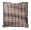Farmhouse Check Pillow Cranberry/Tan