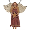 14 Inch Brown Resin Winged Angel Holding a Star Arrow Replacement