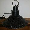 Black Punched Tin Shade Light