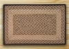 C-017 Chocolate/Natural Braided Rug Rectangle
