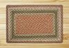 C-024 Olive/Burgundy/Gray Braided Rug Rectangle