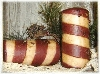 Primitive Grungy Candy Cane Pillar
