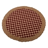 Heritage House Lace Candle Mat Barn Red-Nutmeg