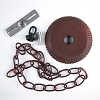 Rustic Tin Ceiling Plate Kit w/3 feet of RT Chain
