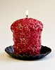 Oversized Votive - Cranberry Stardust