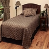 Marshfield Jacquard Bedcover Twin Black