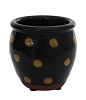 Black Pottery with Yellow Dots