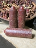 Primitive Lantern Candle - Apple Cinnamon  (Burgundy)