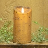 3×6 REAL LOOK FLAMELESS TIMER CANDLE-MUSTARD