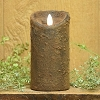 3×6 REAL LOOK FLAMELESS TIMER CANDLE-BROWN