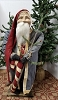 Tall Fat Santa with Blue Coat with Candy Cane