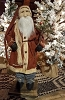 Arnett Santa with Red Flannel and Round Tree