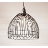 Petal Cage Pendant in Smokey Black