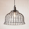 Industrial Cage Pendant in Smokey Black