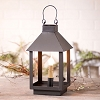 Small Square Lantern in Smokey Black