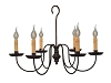 Wilcox Wrought Iron Chandelier
