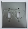 Tin Double Switchplate Heart Punch