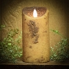 Real Look Flameless Battery Timer Candle-Cream