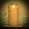 Real Look Flameless Battery Timer Candle-Mustard