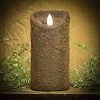 Real Look Flameless Battery Timer Candle-Spice