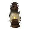 RUSTED MOVING FLAME WATCHMAN LANTERN WITH TIMER