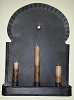 Colonial Sconce Black