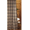 Chesterfield Check Barn Red Shower Curtain Oat-Black
