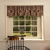 BLACK & TAN VALANCE