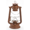 Tin Oil Lantern - Rusted - 12 inches
