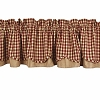 Heritage House Check Fairfield Valance Barn Red