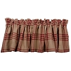 Chesterfield Check Barn Red Valance Oat-Barn Red