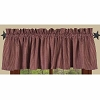 Newbury Gingham Valance Barn Red