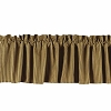 York Ticking Valance Black