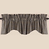 Heritage House Check Scalloped Valance Black
