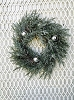 Cedar Wreath with Silver Plated Ball & Lights | 16