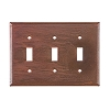 Triple Switchplate Rustic Tin