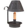 Shaded Candle Holder in Textured Black
