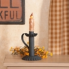 Petite Candle Holder in Textured Black