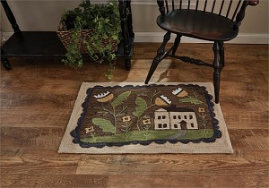 "Whimsey Cottage Hooked Rug 24"" x 36"""