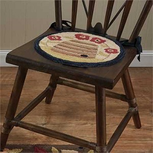 Bee Skep Hooked Chairpad